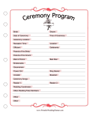 Ceremony Program