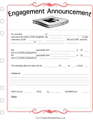 Newspaper Engagement Template