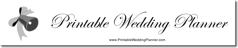 Printable Wedding Planners
