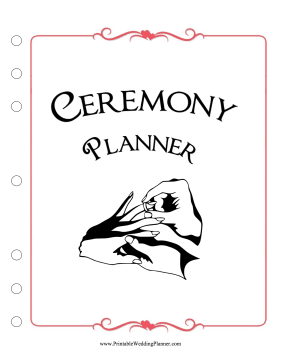 Ceremony Cover Page