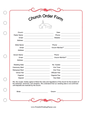 Church Order Form