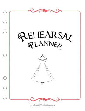 Rehearsal Cover Page