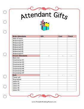 Attendant Gifts