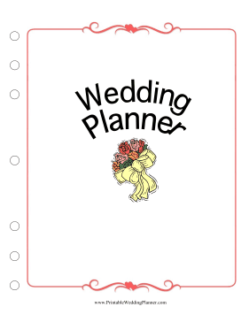 Wedding Planner Cover Page