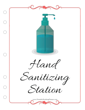 Wedding Planner Hand Sanitizing Station