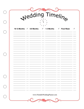 Wedding Planner Long Timeline