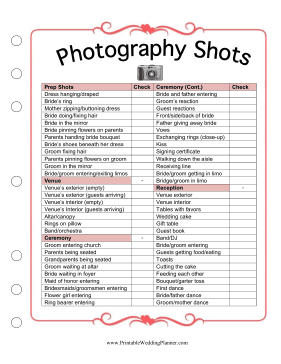 Photography Worksheets - Karibunicollies
