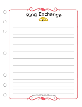 Wedding Planner Ring Exchange