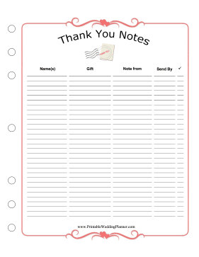 Wedding Planner Thank You Notes